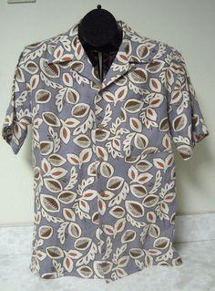 Pusser's Island Men's Blues Island Style Hawaiian Aloha Shirt 100% Linen Size S #PussersIslandStyle #Hawaiian