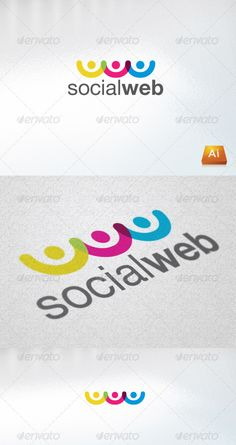 Socialweb Logo Design Template Vector #logotype Download it here: http://graphicriver.net/item/socialweb/804210?s_rank=974?ref=nexion