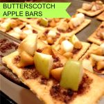 These Butterscotch Apple Bars take only 15 minutes to make from start to finish! Plus if they have apples in them they're healthy, right?!