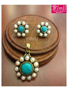 Diligent Purple Copper Turquoise Pearl Beads Earrings Silver Plated Over Solid Copper
