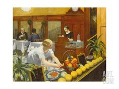 Tables for Ladies Giclee Print by Edward Hopper at Art.com