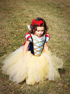 Snow White Tutu Dress by RayneBelles on Etsy