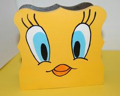 Your place to buy and sell all things handmade Looney Tunes Party, Looney Toons, Wood Napkin Holder, Folder Holder, Magazine Holders, Paint Markers, Party Themes, Party Ideas, Tweety