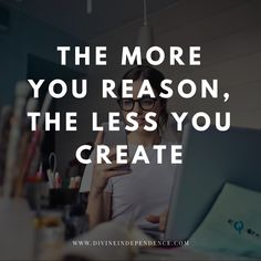 The more you reason, the less you create.