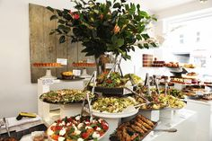 BRUNCH Fresh Salads at Ottolenghi, London also in nothing hill ledbury street