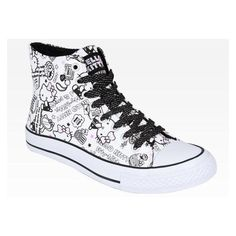 Hello Kitty Women's Sneaker Fashion Size 6 ❤ liked on Polyvore featuring shoes, sneakers, hello kitty footwear, high top shoes, hello kitty, star sneakers and hello kitty high tops