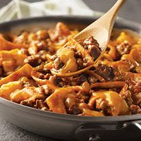 Beef Taco Skillet... I just tried this and it's delicious!  Kind of like an enchilada.  Enjoy!