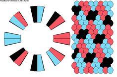 Strings: 16 Colors: 3 K2061 - friendship-bracelets.net