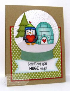 Sending You Huge Hugs by Kerri Michaud, #Encouragement, #ValentinesLove, #Cardmaking