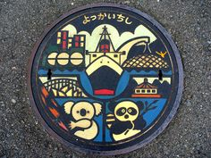 Manhole covers in #Japan. #design