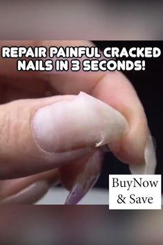 Polygel Nails, Diy Nails, Cute Nails, Pretty Nails, Hair And Nails, Acrylic Nails, Cracked Nails, Fibre Gel, Nail Repair