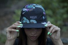 five panel hat girl - Google Search