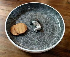C'est l'heure du gouter.... adorable ceramic