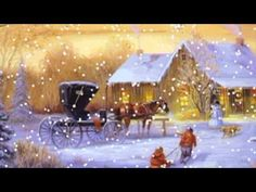 Vánoční písničky - Bílé vánoce, Purpura, Padá sníh, Rolničky - YouTube Thomas Kinkade Christmas, Grinch Christmas, Christmas Scenes, Christmas Costumes, Christmas Time, Christmas Cards, Christmas Carols Songs, Christmas Music, Vintage Christmas