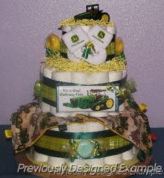 John Deere Diaper Cake I would love it if someone made this for me when I'm pregnant