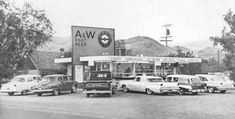 A&W Hamburgers & Root Beer - 1956 #vintageads #Ads #vintage #PrintAd #tvads #advertising #BrandScience #influence #online #Facebook #submissions #marketing #advertising