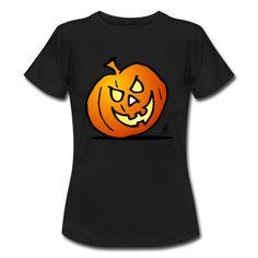 Jack-o'-Laterne, Halloween-Kürbis T-Shirt #Spreadshirt #Cardvibes #Tekenaartje #Halloween | ID: 22220241
