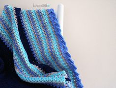 Baby Waves Afghan Waved Border Love the border