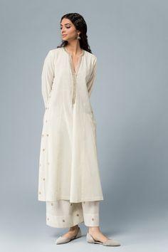 Designer Hand Made Indian Pakistani Traditional Stylish Stitched Kurta with Hand Embroidered Sharara Salwar Designs, Kurta Designs Women, Pakistani Kurta Designs, Pakistani Outfits, Indian Outfits, Indian Clothes, Indian Attire, Indian Wear, Trajes Pakistani