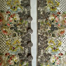 Court Waistcoat, Embroidery detail, 1770-80, Wearing the Garden exhibition at Berrington Hall, 2014