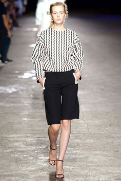 Black and white stripes Opening Ceremony Spring 2014 Ready-to-Wear Collection Slideshow on Style.com