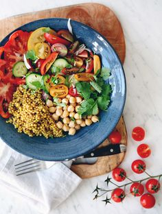 Late Summer Abundance Bowl - My New Roots My New Roots, Summer Meal Planning, Late Summer, Abundance, Cobb Salad, Nom Nom, Meals, Healthy, Live