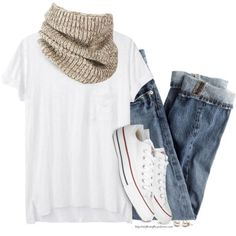 4f2a25973 A fashion look from February 2015 featuring rag   bone t-shirts