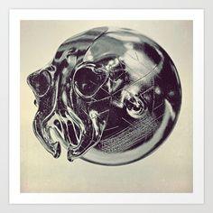 #Alien skull #Art #Print by #jesuisciprian | #Society6