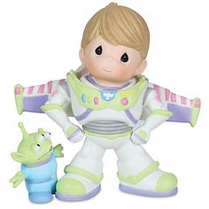 ''To Infinity and Beyond'' Buzz Lightyear and Space Alien Figurine by Precious Moments | Figurines & Keepsakes | Disney Store