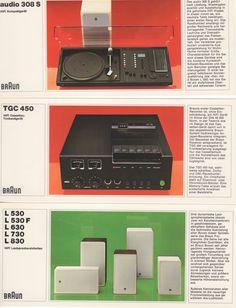 Braun (3 Prospektblätter) audio 308 S / TGC 450 / L 530...