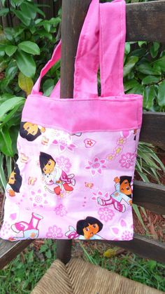Check out this item in my Etsy shop https://www.etsy.com/listing/199028014/childrens-tote-dora