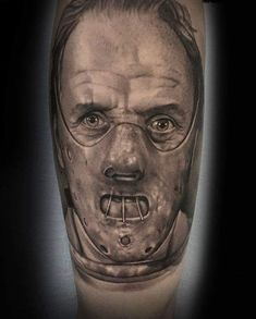 Photo by (suavecito34) on Instagram | #emeraldtattoomodesto #modestotattoos #modestoca #salidatattoos #salidaca #209tattoos #emeraldtattoosbycody #portratitattoo #horrortattoo #hannibaltattoo #silenceofthelambstattoo #realismtattoo Hannibal Tattoo, Horror Tattoos, Realism Tattoo, I Tattoo, Ink, Portrait, Instagram, Realist Tattoos, Headshot Photography