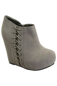 Laced Detail Bootie