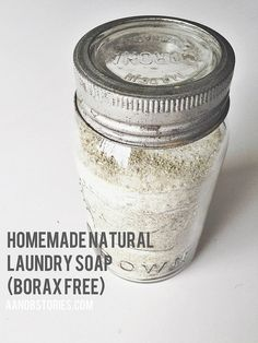 DIY Homemade all natural laundry detergent (borax free) /// The A & B Stories