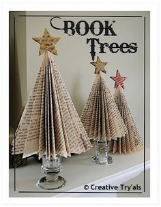 DIY Déco Noël: sapin 'livre' - made by iSa