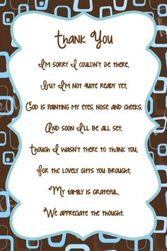 Simple Thank You Quotes For Baby Shower Gift Verses