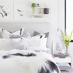 Monday mood; Comfy bedroom style#interiordesign#bedroomdesign#scandinavianstyle#comfystyle PC: pinterest