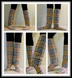 DIY slippers, DIY fleece socks, One Yard Wonders