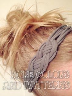 DIY: Sailors Knot T-Shirt Headband ~ No Headband Headache :) Crafts To Do, Diy Projects To Try, Diy Crafts, Tshirt Knot, Tshirt Garn, Knot Headband, Headband Tutorial, Crafty Craft, Crafting