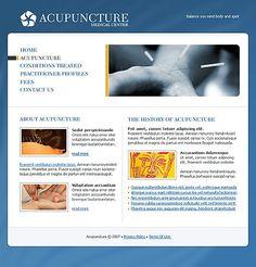 Oriental Inspired Acupuncture Website Theme | Acupuncture Website ...