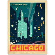 Trademark Fine Art Chicago Iii Canvas Art by Anderson Design Group, Size: 18 x 24, Multicolor