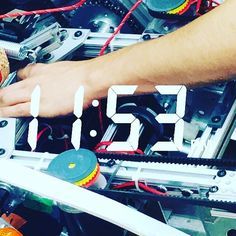"""Officially 24 hours left in the build season before we seal her up so we're putting in some long hours. Here's a sneak peak of our 2016 competition robot """"the Hindenburg"""" #omgrobots #dointime #nothingwithoutlabor by rcdawson2972"""