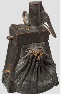 Ethnographic Arms & Armour - Earliest Arquebusier's and Musketeer's Trapezoidal Powder Flasks, ca. 1530-1590