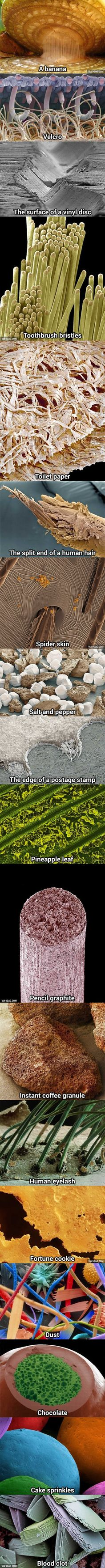 18 Everyday Things Made Awesome Under A Microscope. - Is it just me or does the dust look evil?
