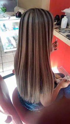 coiffure longue mechee
