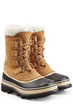 SOREL - Gefütterte Winter-Boots Caribou aus Veloursleder und Gummi