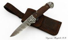 Складной нож Юнкер 2 дамаск
