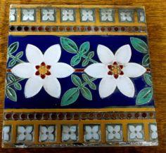 Qty Antique c1875 Victorian Minton Hollins England Tile Floral Stoke Upon Trent | eBay