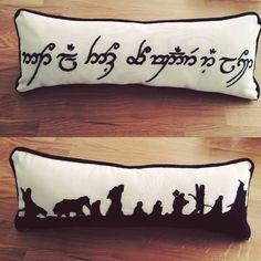 Yüzük Kardeşliği Yastığım  The Fellowship of the Ring Pillow - - -  #embriodery #handembriodery #stitching #embrioderyart #handmade #handma #art #elyapımı #handwork #pillow #lotr #thefellowshipofthering #notallthosewhowanderarelost #tolkien #sewing #elişi #nakış #blackandwhite #nerd #elvish