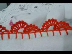 Easiest Crochet Frills Border Ever! Picot Crochet, Crochet Waffle Stitch, Crochet Doilies, Crochet Lace, Crochet Stitches, Crochet Boarders, Crochet Edging Patterns, Crochet Bikini Pattern, Crochet Designs